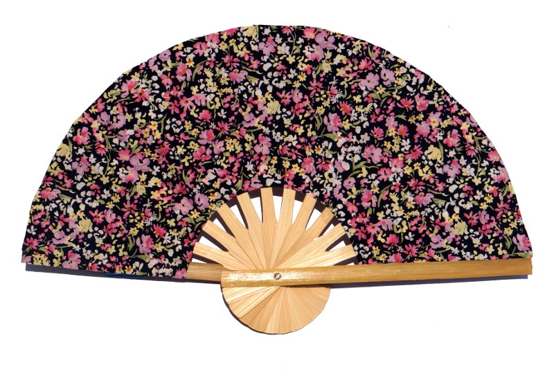Design Pattern 03 fabric wedding fan with printed flowers