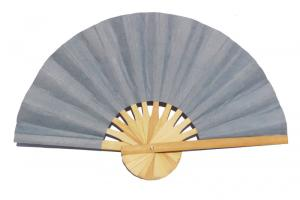 Paper wedding fan in solid color Grey. Handmade with bamboo and mulberry paper.