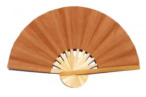Paper wedding fan in solid color Peru. Handmade with bamboo and mulberry paper.