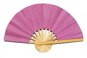 Paper wedding fan in solid color Plum. Handmade with bamboo and mulberry paper.